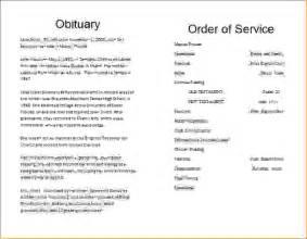 funeral programs templates free 13 memorial service programagenda template sle agenda