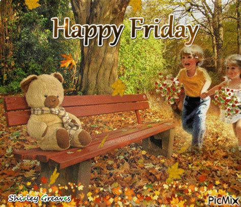 kids teddy bear happy friday gif pictures
