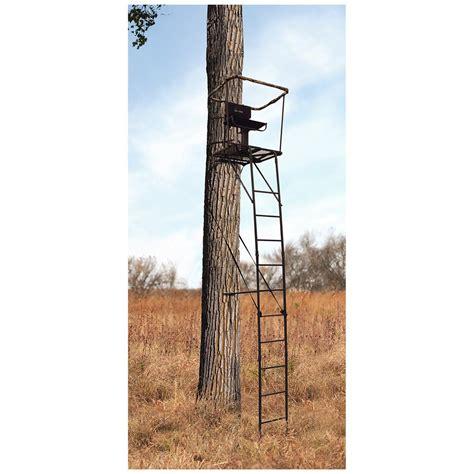 guide gear 16 swivel ladder tree stand 663255 ladder