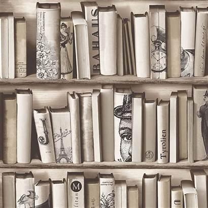 Library Pattern Carta Bookcase Parati Muriva Books