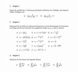 Geometrische Reihe Berechnen : folge arbeitsblatt definition der nullfolge in der ~ Themetempest.com Abrechnung