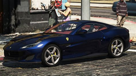 2018 ferrari portofino add on replace gta5 mods com