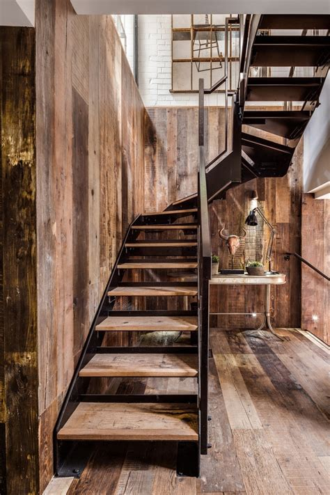 Industrial Metal Staircase Design