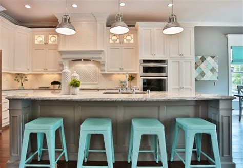 light turquoise kitchen 18 brilliant kitchen bar stools that add a serious pop of 3763