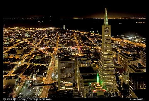 city lights sf picture photo city lights with transamerica pyramid san