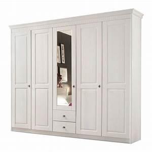 Kleiderschrank Pinie Weiß : kleiderschrank bodo 5 t rig pinie massiv wei lasiert ~ Orissabook.com Haus und Dekorationen