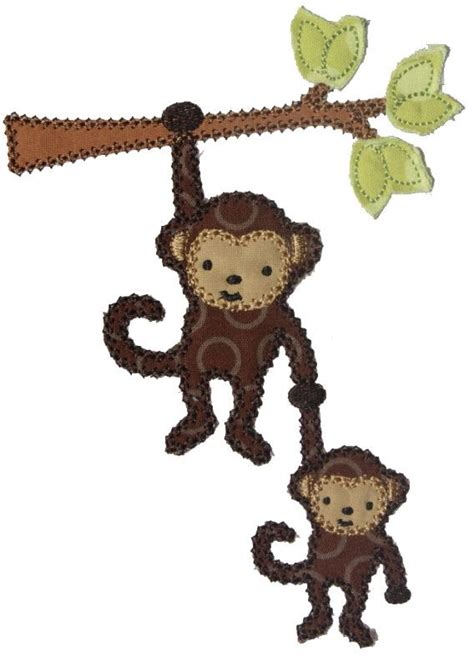 Monkey Applique by 48 Best Applique Monkeys Images On Monkey