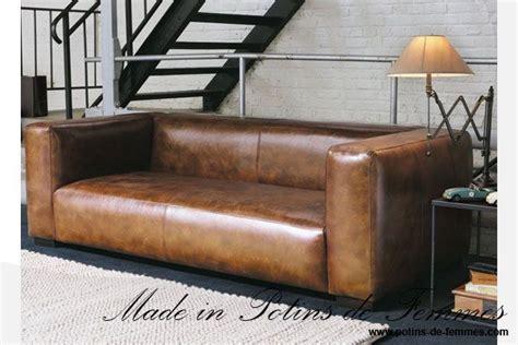 canapé cuir maison du monde le canapé de maisons du monde en cuir dans les tons