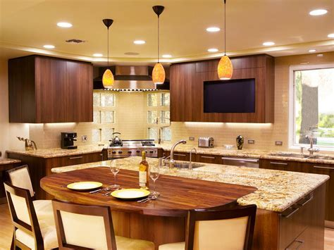Awesome Kitchen : Kitchen island with built in seating