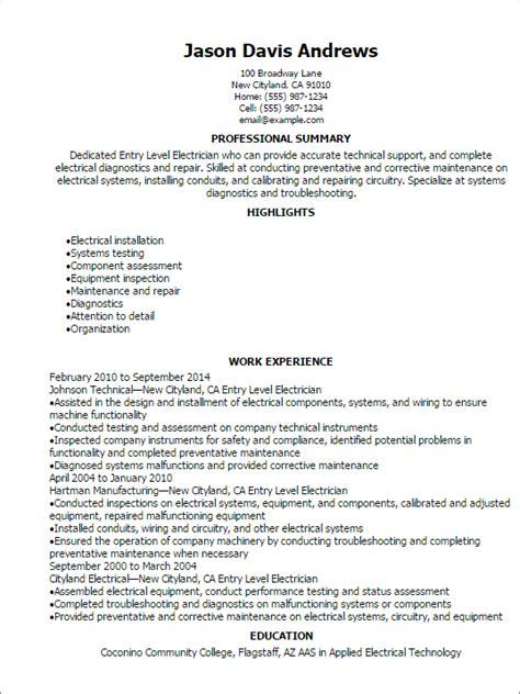 Beginner welding resume