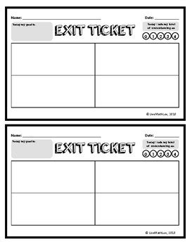 Exit Ticket Template Exit Ticket Template Here S What No One Tells You About