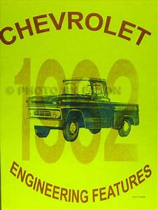 1962 Chevrolet Truck Wiring Diagram Manual Reprint