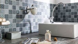 carrelage salle de bain nos modeles preferes cote maison With sol gris quelle couleur pour les murs 16 papier peint pour couloir comment faire le bon choix