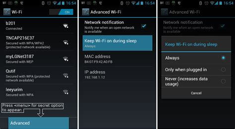 how to wifi on android keeping android wifi awake jethro carr