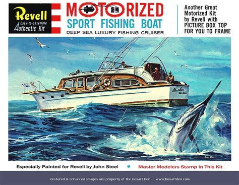 Sport Fishing Boat Kits by Revell Sport Fishing Boat 61 Box Model Kits Box