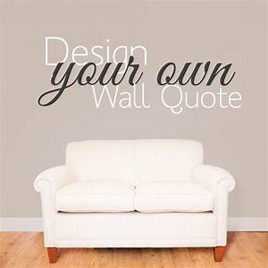design your own wall sticker quote wallboss wall With wall quote stickers