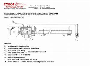 Residential Garage Door Opener Model Gd-03 Domestic