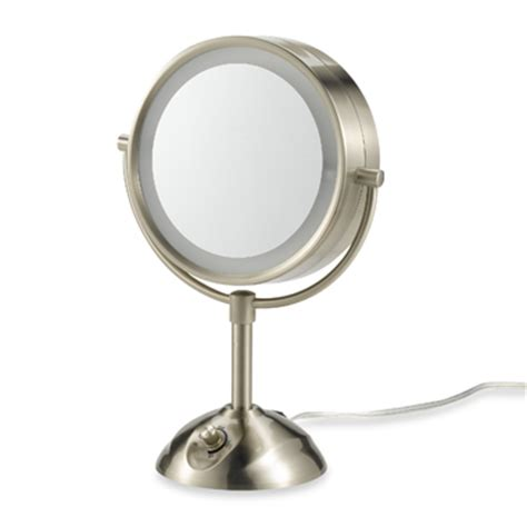conair lighted mirror conair be103 lighted 10x satin nickel makeup mirror new ebay