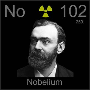 Poster sample, a sample of the element Nobelium in the ...