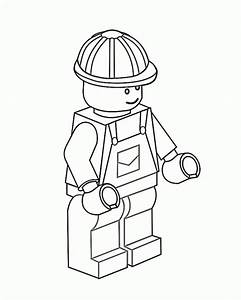 Construction Worker Lego Coloring Page Coloring Sky