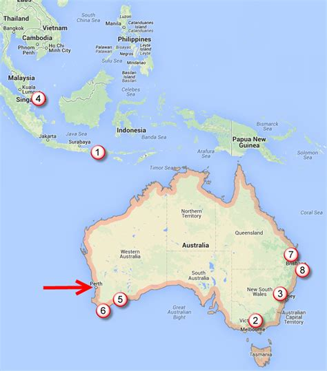 cheap flights australia map