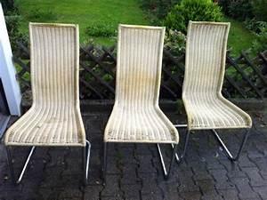 6 Esszimmerstühle Gebraucht : 3 freischwinger chrom stuhl geflochten rattan ~ Frokenaadalensverden.com Haus und Dekorationen