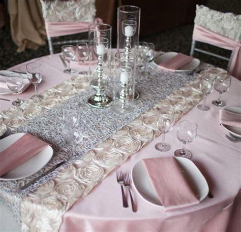 Blush Dupioni Pewter wedding Vintage wedding table