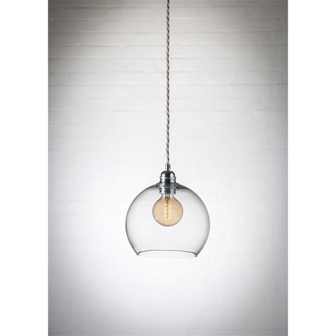 clear glass pendant light a mini blown globe with