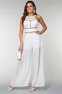 Combinaison Pantalon Femme Mariage : combinaison en mousseline blanc tati mariage robe ~ Carolinahurricanesstore.com Idées de Décoration