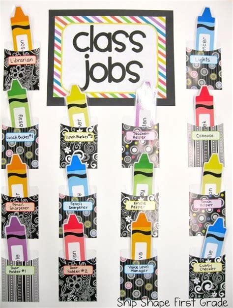41 best images about crayola theme classroom on 529   ebaab16857f93d43dac4f7c291a086d6 preschool job chart classroom job chart