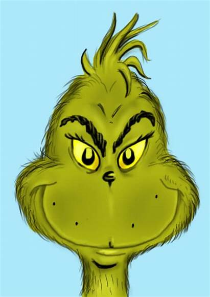 Grinch Face Draw Drawing Christmas Cartoon Clipart