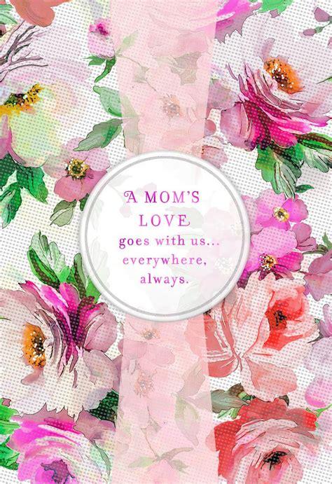 flower print  pink ribbon birthday card  mom
