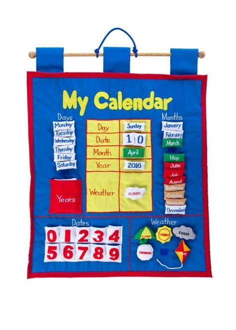 calendar fabric wall hanging plaid tidings