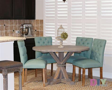 diy round dining table diy round farmhouse table diy swank