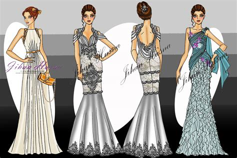 desain longdress party page  jihanhusna spesialis