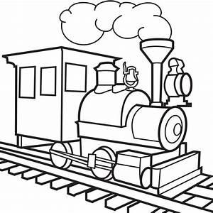 Drawn cartoon train - Pencil and in color drawn cartoon train