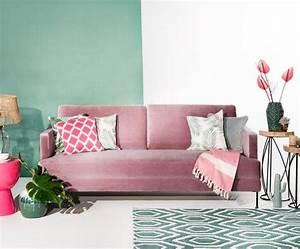 Samt Sofa Rosa : samt sofa fluente 3 sitzer pink impressions ~ Frokenaadalensverden.com Haus und Dekorationen