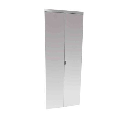 Beveled Mirror Closet Doors by Impact Plus 24 In X 80 In Beveled Edge Mirror Solid