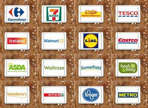 Brands And Logos Of Top Famous Supermarket Chains And ...
