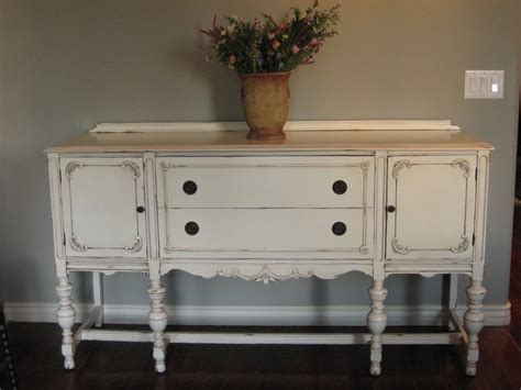 Antique White Sideboard Buffet by European Paint Finishes Another Pretty Antique Sideboard