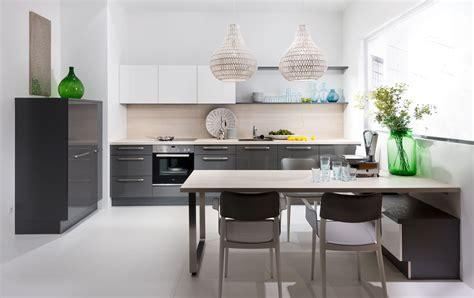cuisine blanc laque cuisine blanc laque et gris
