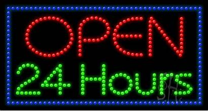 Open Hours Led Neon Animated Signs