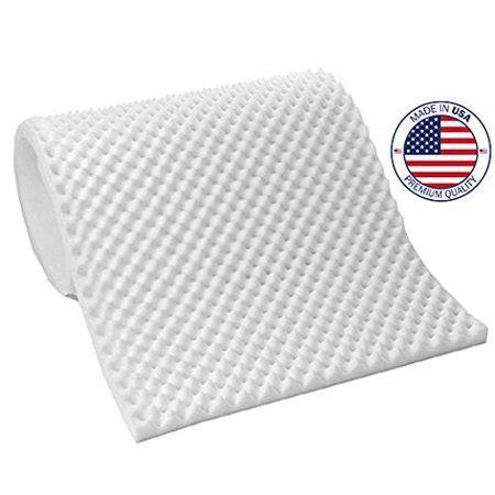 hospital bed mattress topper vaunn egg crate convoluted foam mattress pad 3