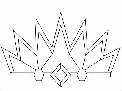 Coloring Crown Krone Template Tiara Ausmalbilder Princess