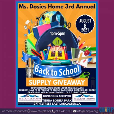 Ms. Dosies 3rd Annual Supply Giveaway   Chirp LA
