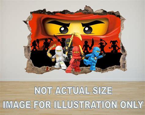 Wandtattoo Kinderzimmer Lego by Lego Ninjago 3d Effekt Grafik Vinyl Aufkleber Wandtattoo