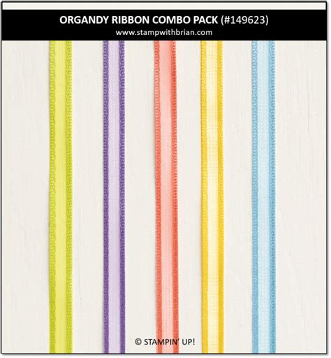 organdy ribbon combo pack stampin   sale