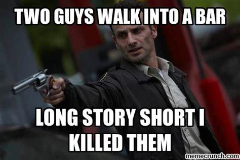 Rick Grimes Memes - rick and carl grimes meme memes