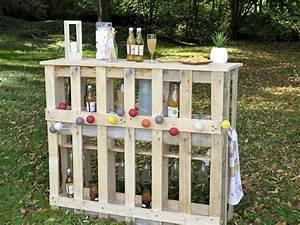 Fabriquer Un Bar : 5 conseils pour fabriquer son mobilier de jardin en palettes ~ Carolinahurricanesstore.com Idées de Décoration