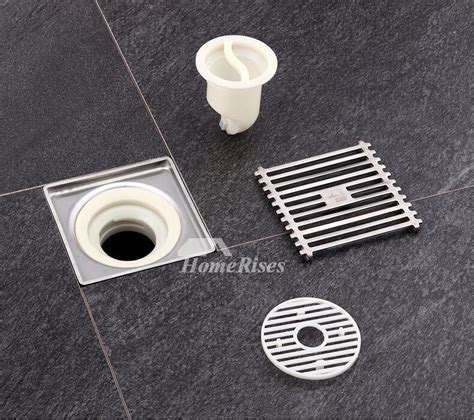 deodorant stainless steel brushed square shower floor